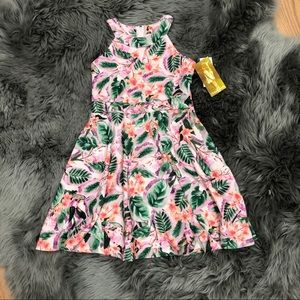Emerald Sundae | Girls Floral Halter Dress
